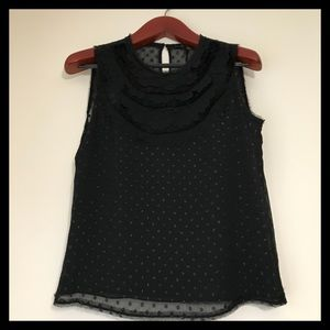 NWT BCBG MAXAZRIA Black Sleveless Top